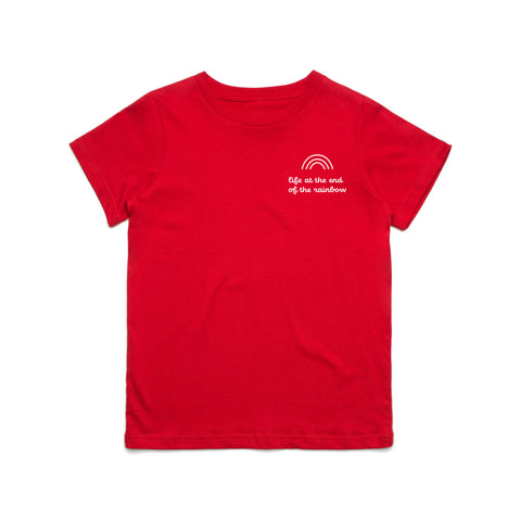 End Of The Rainbow Rose Red Tee (Kids)