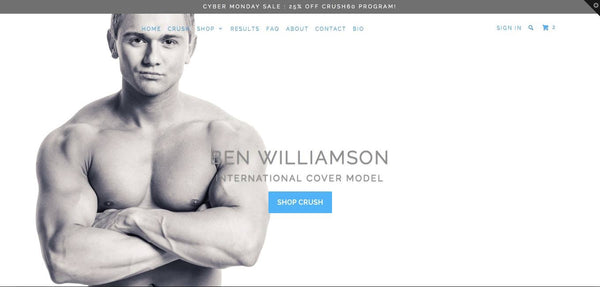 Ben Williamson Fitness Cover Model Crush Fitness
