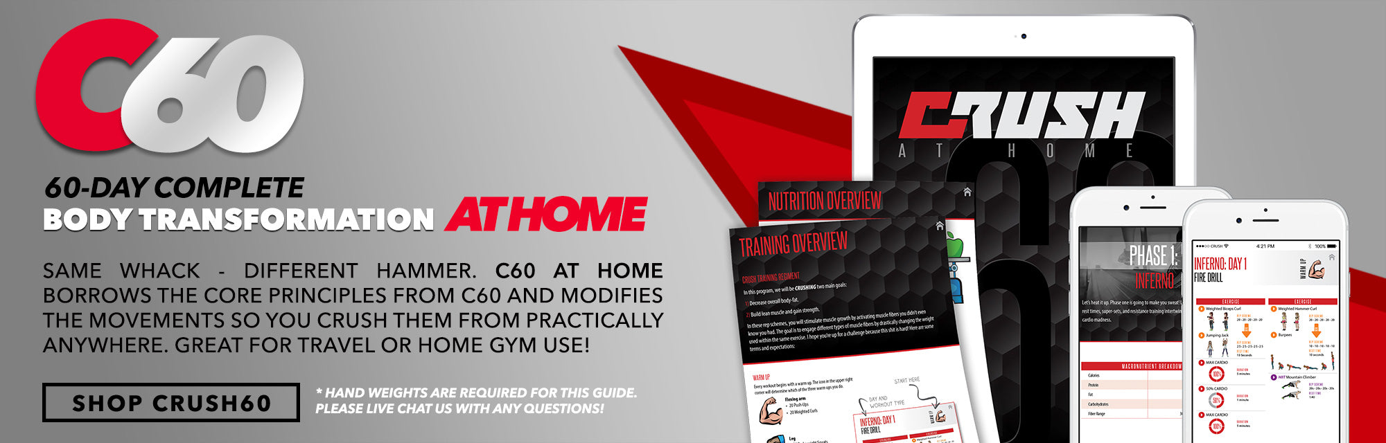 CRUSH AT HOME WORKOUT GUIDE BEN WILLIAMSON CRUSH FIT
