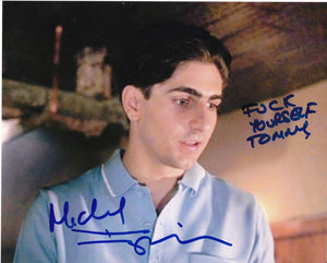 "MICHAEL IMPERIOLI ""SPIDER"" GOODFELLAS ""F**K"" YOURSELF TOMMY""   signed autographed photo COA"