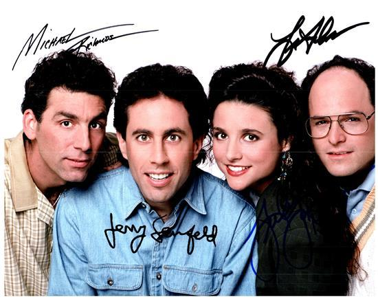 JERRY SEINFELD CAST signed autographed photo COA