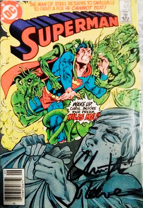 SUPERMAN CHRISTOPHER REEVE signed autographed photo Comic Book COA