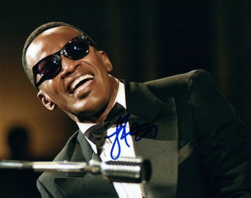 RAY CHARLES signed autographed photo COA