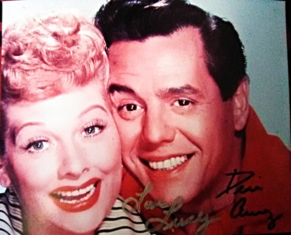 I LOVE LUCY CAST signed autographed photo COA