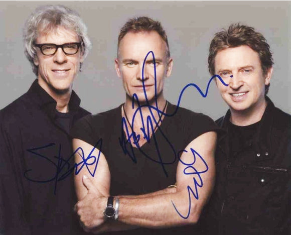 THE POLICE BAND signed autographed photo COA