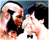 ROCKY - SYLVESTER STALLONE & MR T signed autographed photo COA