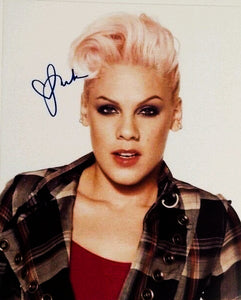 PINK SINGER signed autographed photo COA