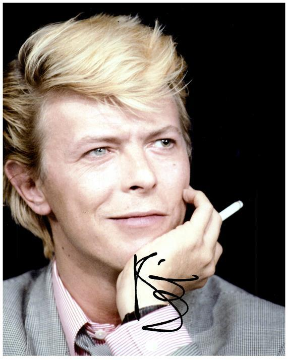 DAVID BOWIE signed autographed photo COA