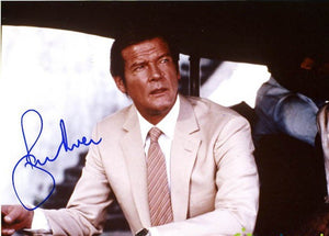 ROGER MOORE signed autographed photo COA