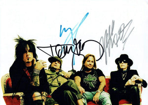 MOTLEY CRUE BAND signed autographed photo COA