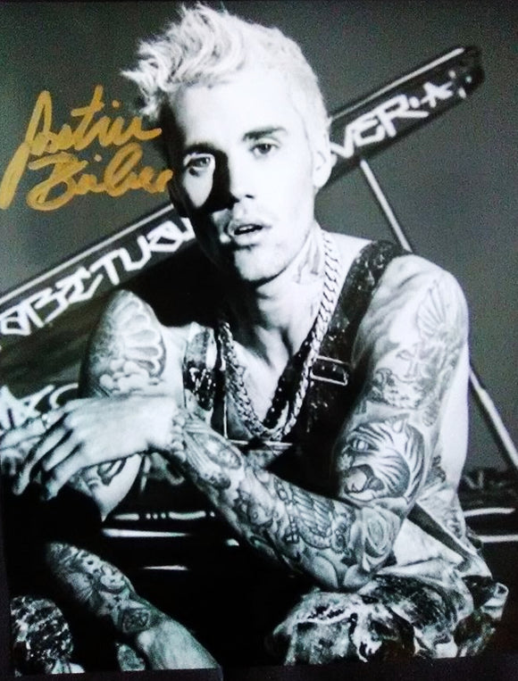 JUSTIN BIEBER signed autographed photo COA