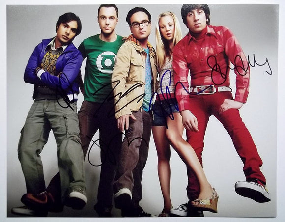 THE BIG BANG THEORY CAST signed autographed photo 4 members COA