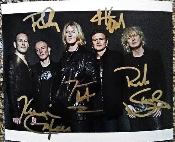DEF LEPPARD BAND signed autographed photo COA
