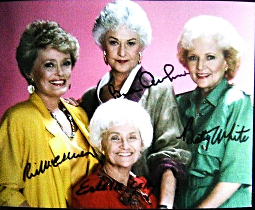 THE GOLDEN GIRLS CAST signed autographed photo COA