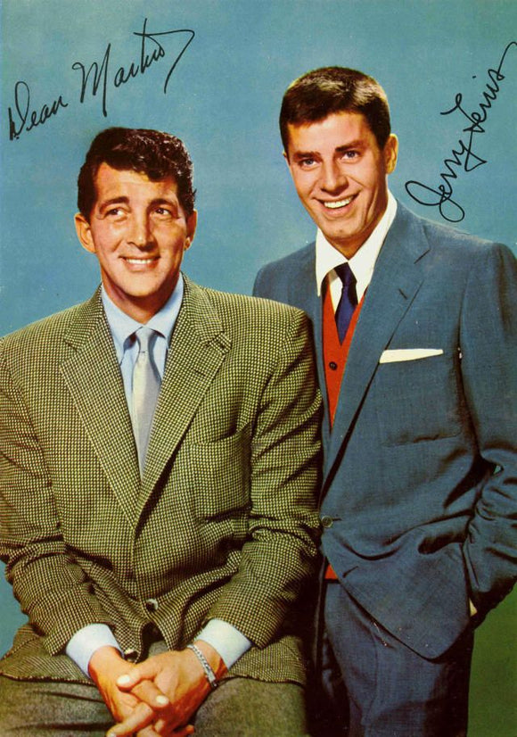 DEAN MARTIN JERRY LEWIS signed autographed photo COA