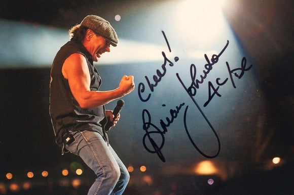 BRIAN JOHNSON signed autographed photo AC / DC COA