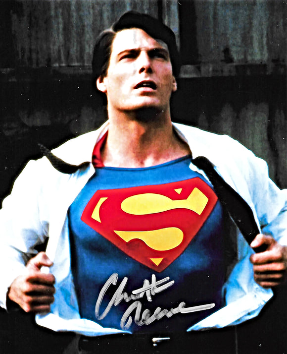 SUPERMAN CHRISTOPHER REEVE signed autographed photo COA