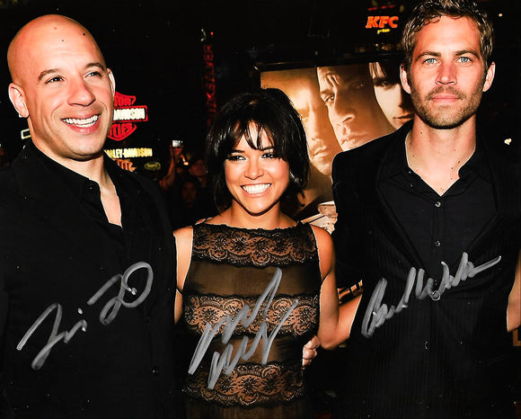 THE FAST AND FURIOUS CAST signed autographed photo COA