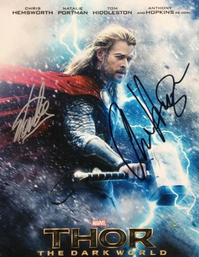 CHRIS HEMSWORTH / STAN LEE signed autographed THORE photo  COA