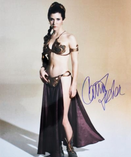 CARRIE FISHER signed autographed photo COA