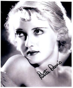 BETTE DAVIS signed autographed photo COA