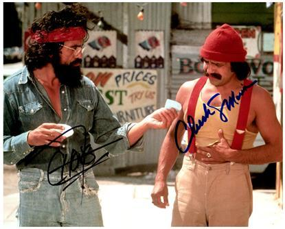 CHEECH MARIN & THOMAS CHONG  cast signed autographed photo COA