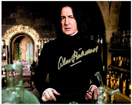 ALAN RICKMAN signed autographed photo COA