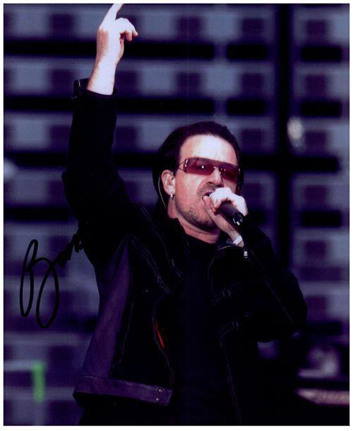 BONO U-2 signed autographed photo COA