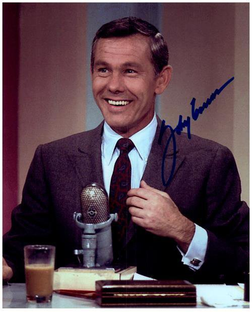 JOHNNY CARSON signed autographed photo COA