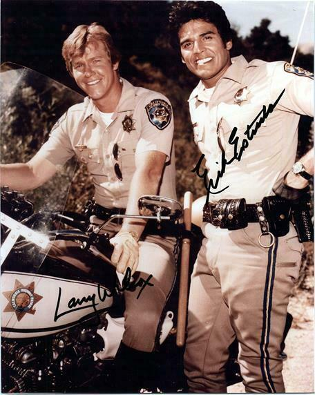 CHIPS CAST  signed autographed photo COA