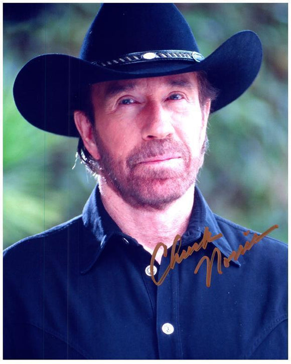 CHUCK NORRIS signed autographed photo COA