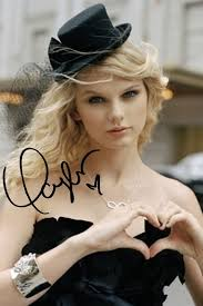 TAYLOR SWIFT signed autographed photo COA