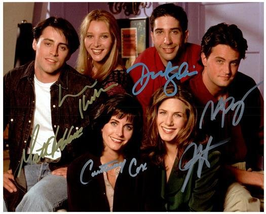 FRIENDS CAST signed autographed photo COA