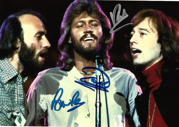 THE BEE GEES signed autographed photo COA