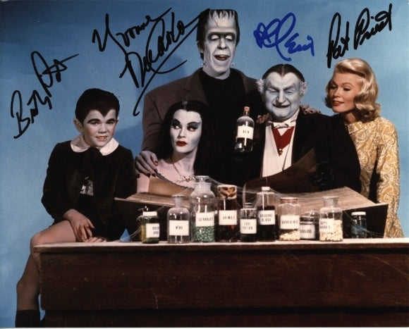 THE MUNSTERS CAST signed autographed photo COA