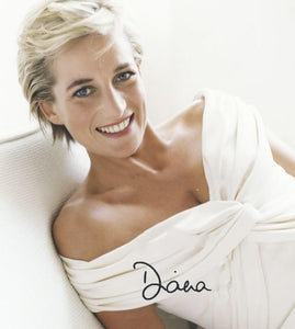 PRINCESS DIANA signed autographed photo COA