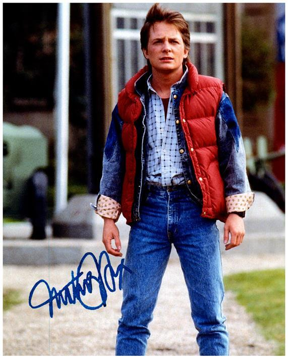 MICHAEL J. FOX signed autographed photo COA