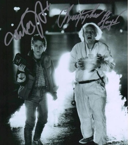 BACK TO THE FUTURE cast signed autographed photo COA
