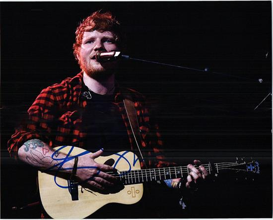 ED SHEERAN signed autographed photo COA