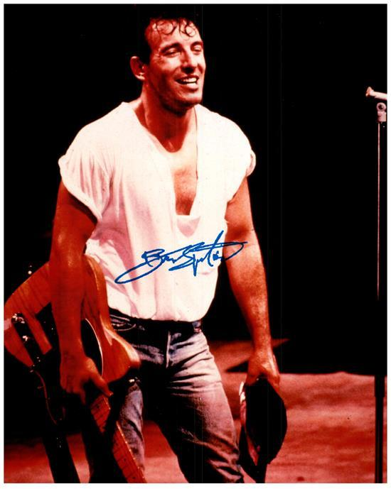 BRUCE SPRINGSTEEN signed autographed photo COA