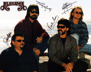 ALABAMA BAND signed autographed photo COA