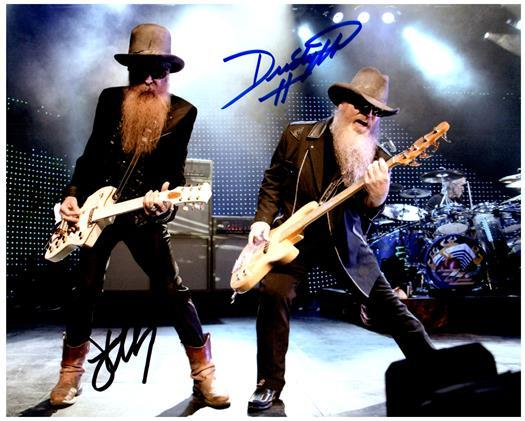 ZZ TOP signed autographed photo COA