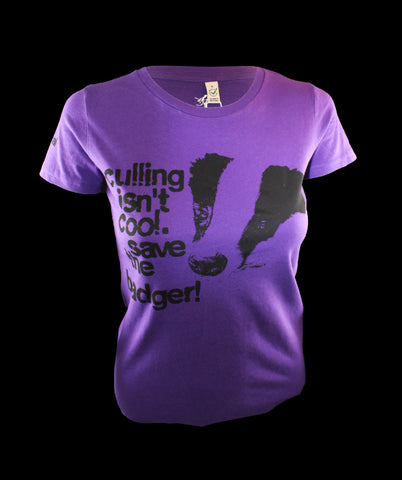 Save the Badger! Purple, 100% Organic Cotton, Dolls