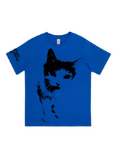 Cat Frontin', 100% Organic Cotton, for the Kids - Simple Animal  - 1