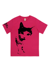 Cat Frontin', 100% Organic Cotton, for the Kids - Simple Animal  - 2