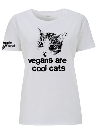 Vegans are Cool Cats, Boyfriend Style, 100% Cotton, Dolls - Simple Animal