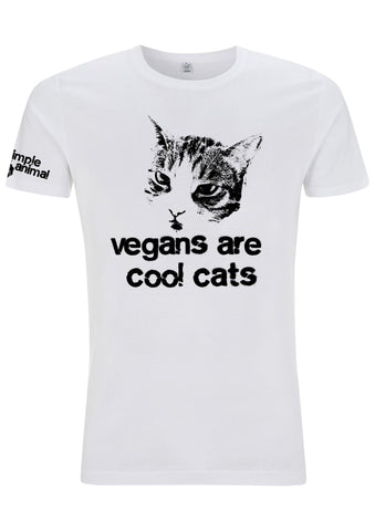 Vegans are Cool Cats, Classic, 100% Organic Cotton - Simple Animal