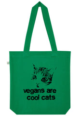 Vegans are Cool Cats, Bag, 100% Organic Cotton - Simple Animal  - 4