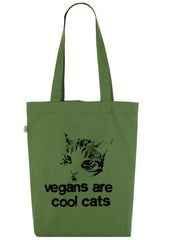 Vegans are Cool Cats, Bag, 100% Organic Cotton - Simple Animal  - 5
