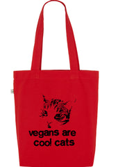 Vegans are Cool Cats, Bag, 100% Organic Cotton - Simple Animal  - 6